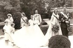 Miss Honoria Glossop, Wedding of King Michael and Queen Anne of Romania; holding the train-Prince (now King) Constantine, Princesses Irene and Sophia (now Queen Sofia of Spain) and Prince Michael; behind them, Queen Frederika of Greece, Princess Francoise of France, and King Paul of Greece