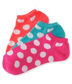 3-Pack Bubble Dot Ped Socks - Aeropostale