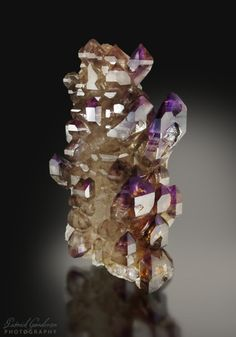 Smoky Amethyst Quartz Sceptre  Lucky Stars Pocket, Entia Valley, Harts Range, Central Desert Region, Northern Territory, Australia Source:mindat.org