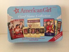 American Girl Card Game Collection with Tin 3 Exclusive Games Factory Sealed New #AmericanGirl