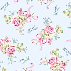 Ballet Rose 926b Cotton Fabric by Rachel Ashwell by agardenofroses, $10.50
