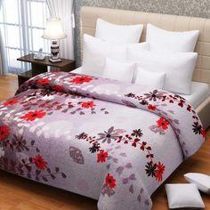Rosepetal Super Soft Double Bed AC Blanket Lilac  Purple - FabFurnish.com