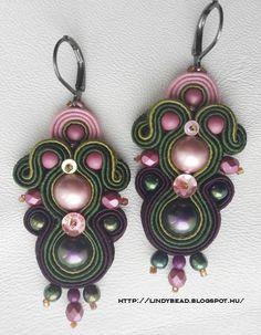 Pendientes Soutache Earrings, Drop Earrings, Leather Earrings, Shibori, Jewelry Collection, Jewelries, Beads, Beadwork, Bracelet