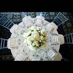 I love the overhead shot of this beautiful centerpiece