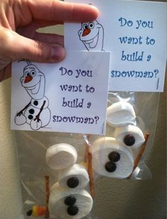 Do You Want To Build a Snowman treat