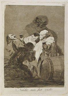 Francisco Goya, Nadie Nos Ha Visto - Origina Etching and Aquatint by Francisco Goya - Francisco Goya, Spanish Artists, Spanish Painters, Fine Art Auctions, Old Master, Animal Tattoos, Funny Art, Gravure, Printmaking