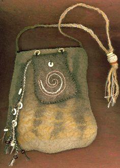 Nomad - wet felted bag. $105.00, via Etsy.