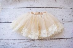 Perfect for Anaïs' baptism!  Hey, I found this really awesome Etsy listing at https://www.etsy.com/listing/164643788/baby-pettiskirt-lace-tutu-tutu-lace