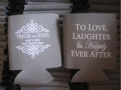 Koozies from Proposal to I Do - Lindsy Steinberg Events