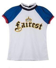 **New Disney Descendants Evie Fairest Girls Costume Shirt Size L 10/12 VHTF