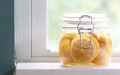 Leftover Lemon Peels? Make Make A Skin Brightening Scrub, Gourmet Infusion And More!  I like the vinegar infusion at the bottom - and adding a lemon peel to the dishwasher..