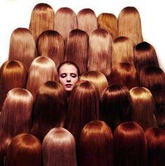 Shades of red hair - Guy Bourdain. LOOKS LIKE MANSUR GAVRIEL CAMPAIGN
