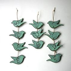 HOPE+Bird+Wall+Hanging++French+White+or+Aqua+by+BackBayPottery,+$28.00