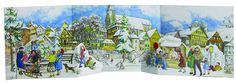 Amazon.com: 3-D Winter Village Panorama German Advent Calendar Germany Christmas Countdown: Home & Kitchen