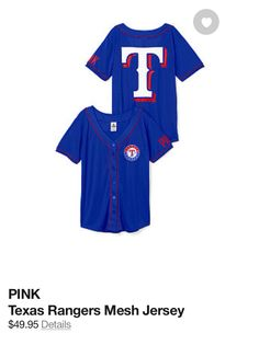 Texas Rangers Mesh Jersey.  Great for games. Wear it with skinny jeans when it's cool outside or with shorts when it's hot as you-know-what.   Get it here:  http://rstyle.me/cz-n/gqzuw4j8w  #texas #rangers #fashion #mlb #baseball
