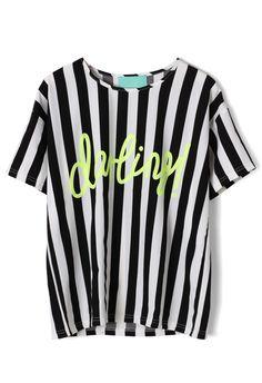 Stripes T-shirt - T-Shirt - Tops - Retro, Indie and Unique Fashion