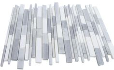Gray Clouds free form brick cracked joint brick marble tile- shop glass tiles at glasstilestore.com --- with white grout
