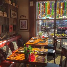 Silver Star Cafe corner, late fall afternoon. #autumnlight #tablefortwo