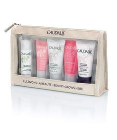Caudalie Travel Set Get jetsetting with the Caudalie Travel Set Conditioning Shampoo, Beauty Elixir, Make Up Remover, Cleanser And Toner, Travel Set, Skin So Soft, Beauty Essentials, Shower Gel