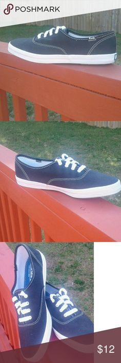 Keds Keds ... NWOT/ NEVER WORN!!! Super Cute clean for the Spring or SUMMER!!!  They are black✔ my lighting is off from the sun..  they are really cute!!♥ PRICE IS FIRM♥ Keds Shoes Sneakers