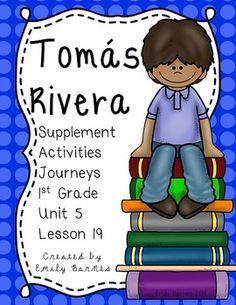Tomas Rivera Journeys 1st Grade Supplement Activities Unit 4 Lesson 19