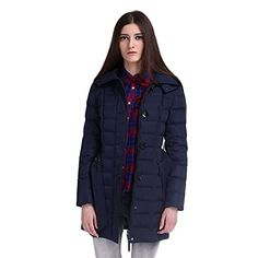 Winter Women's Hooded Parka Lightweight Pocket Buttom Belted Long Down Jacket  http://www.yearofstyle.com/winter-womens-hooded-parka-lightweight-pocket-buttom-belted-long-down-jacket/