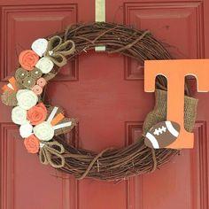 Go Team Wreath by RedDoorWreath on Etsy, $27.00