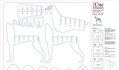 DOG SHELVING Cnc plans template cutting file dog by CncFactory