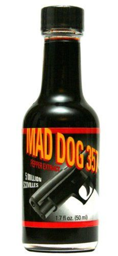 5 Million Scoville Mad Dog 357 Pepper Extract 5 Million Scovile by Mad Dog 357 at the Spicy is Good Hot Sauce Recipes, Spicy Recipes, Gourmet Recipes, Homemade Sprinkler, Love Food, A Food, Hdpe Bottles, Gourmet Food Store, Thing 1