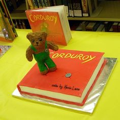 corduroy bear cake | ... fondant. Bear was made with Cocoa Krispies, royal icing and fondant