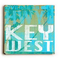 Key West by Artist Cory Steffen Wood Sign