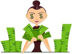 Counting Money - Love this! Totally looks like a cartoon version of Sloane doing her forensic accounting job.