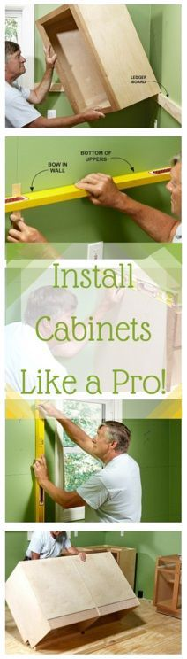 install cabinets like a pro! - tips for installing box cabinets successfully. learn how to hang kitchen wall cabinets and install island cabinets with these pro tips.