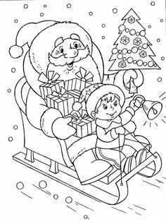 Christmas Pictures To Color, Christmas Colors, Kids Christmas, Coloring Sheets For Kids, Coloring Pages For Kids, Coloring Books, Colorful Drawings, Colorful Pictures, Peace Poster
