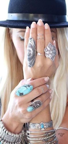 Boho jewelry style. Layered and chunky just the way I like it :-) :-)