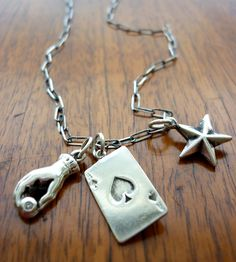 Silver Ace Charm Necklace