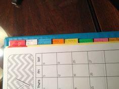 Teacher binder - great tab organization