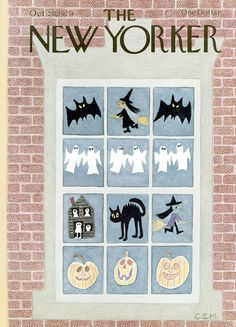 The New Yorker. We specialize in The New Yorker magazine covers and back issues. October Cover artist:Charles E. Halloween Books, Halloween Cat, Halloween Night, Holidays Halloween, Halloween Themes, Vintage Halloween, Halloween Window, Halloween Prints, Halloween Images