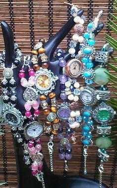 BRACELET WATCH Beaded Gemstones Faith by ColorsOfFaithJewelry, $24.99