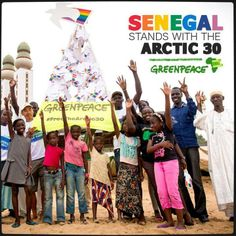 """Moustapha Sarr, an artisanal fisherman from Senegal, writes about his memory of meeting the Arctic Sunrise ship and crew in West African waters in 2012:  """"I will be eternally grateful for your contribution to the preservation of resources and defense of the small fishermen we are.""""  And says of the #Arctic30:  """"Prison walls will not manage to silence you, because there is nothing more respectable than the battle you're involved in.""""  Read Moustapha's entire letter >> http://act.gp/1d5u1aZ"""
