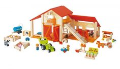 Large Happy Farm Playset by Sevi - EarlyWhirly - The Best Deals on The Best Wooden & Educational Toys