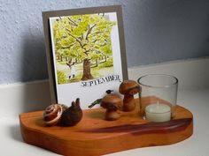 évszakasztal, hónapok ősz szeptember asztali dekoráció Oh Mega!: Jahreszeitentisch.