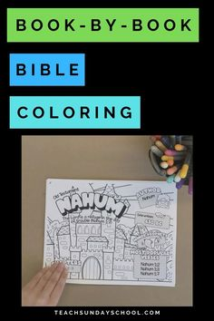 Bible Coloring Pages for Kids- one for each and every book in the Bible Genesis-Revelation! Includes book info including author, date written most popular verses, chapter reading tracker. Bible Coloring Pages, Coloring Pages For Kids, Reading Tracker, Sunday School Kids, Kids Camp, Church Banners, Christian Parenting, Bible Studies, Note To Self