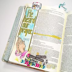 """Es 23 """"He heard our prayer."""" Love this verse from Ezra. Come boldly before the Lord. He longs to hear from us! by biblejournaling Illustrated Faith, Bible Journal, Prayer Request, Inspire Me, Journaling, Prayers, Lord, Study, Education"""