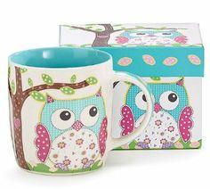 Whimsical Calico Owl Bone China Coffee Mug 14 Ounces with Decorative Gift Box Burton & Burton Owl Kitchen, Kitchen Dining, Kitchen Decor, Owl Coffee, Coffee Mugs, Biscuit, Burton Burton, Owl Mug, Whimsical Owl