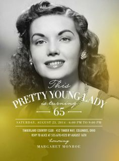Luminous Lady - Adult Birthday Party Invitations in Gilded or Lipstick 75th Birthday Invitations, 75th Birthday Parties, Adult Birthday Party, 90th Birthday, 70th Birthday Ideas For Mom, 70th Birthday Party Ideas For Mom, Birthday Celebration, 70th Birthday Decorations, Geek Birthday