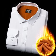 2016 New men winter warm shirts long sleeve thicken casual dress office business white social shirt camisa masculina puls sizes New Man, Long Sleeve Shirts, Blouses, Warm, Business, Winter, Casual, Mens Tops, Dress