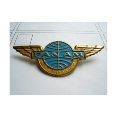 Vintage Pan Am Stewardess Badge ❤ liked on Polyvore featuring home and kitchen & dining