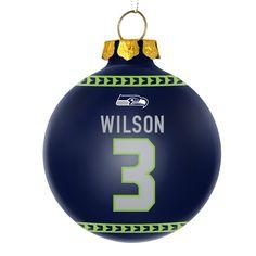 "Seattle Seahawks QB Russell Wilson #3 NFL Christmas Ornament- 2 3/4"" Seahawks Fans, Seahawks Football, Best Football Team, Seattle Seahawks, Christmas Art For Kids, Christmas Bulbs, Earl Thomas, Russell Wilson, Xmas Tree"