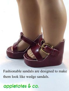 Appletotes & Co 70s Platform Sandals Doll Shoe Pattern 18 inch American Girl Dolls | Pixie Faire